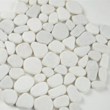 White Marble Pebbles Tumbled Pattern 10mm