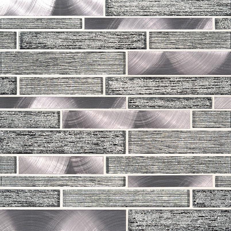Volcanic Luxe Interlocking 8MM Decorative Mosaic Tile
