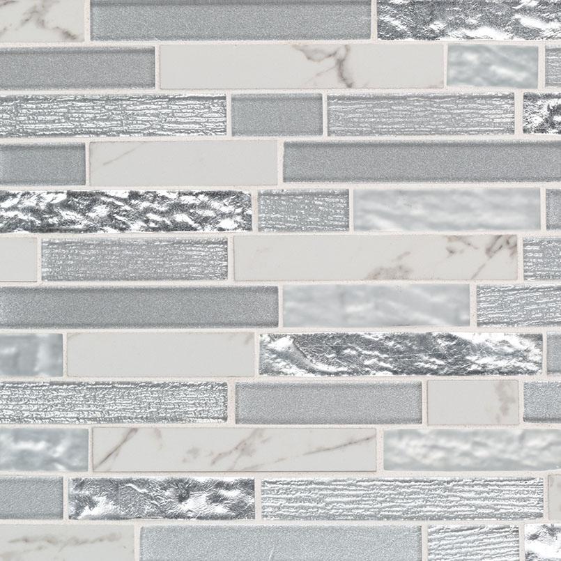 Whistler Ice Interlocking 8mm Decorative Mosaic Tile