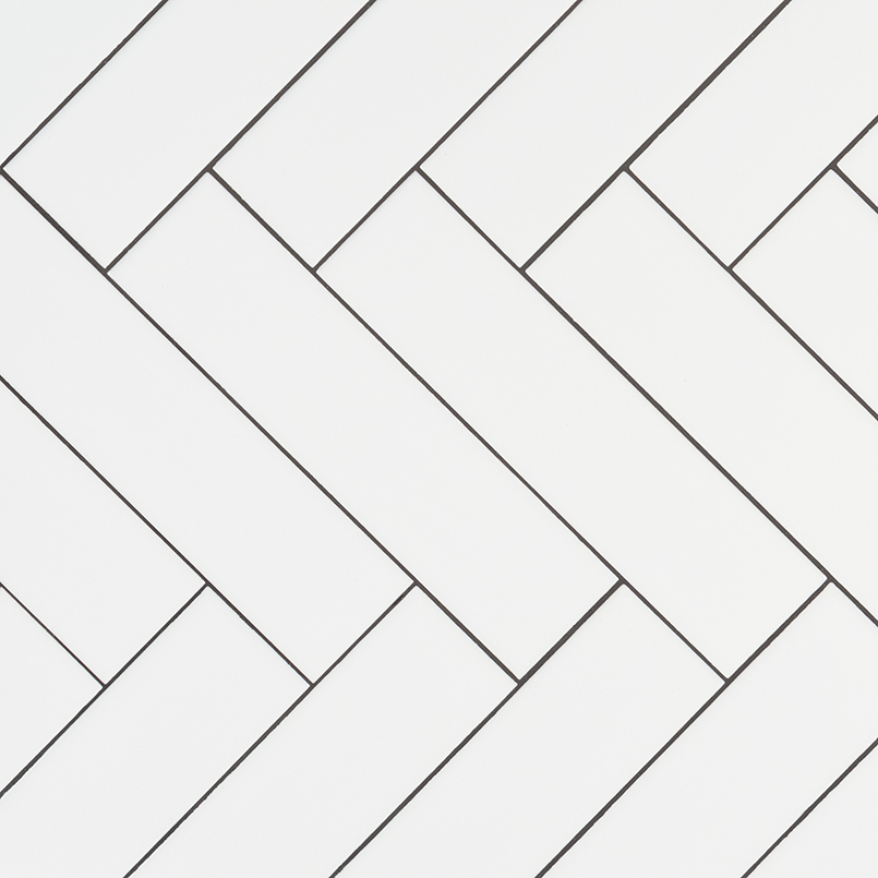 White 2x8 Hexagon Backsplash Tile