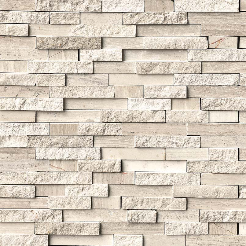 Interlocking Pattern Marble Backsplash Tile