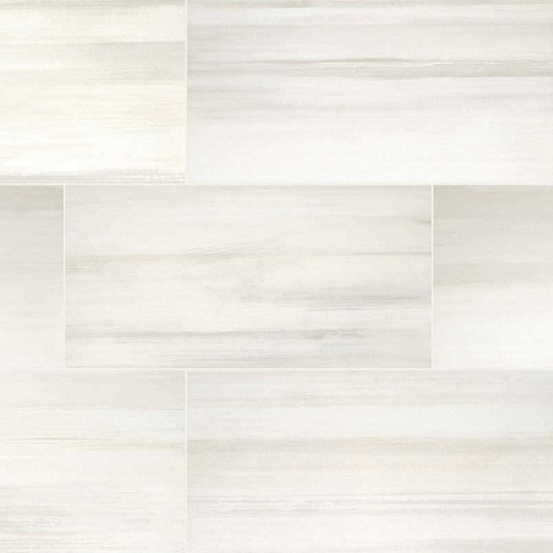 Watercolor Bianco Porcelain Tile