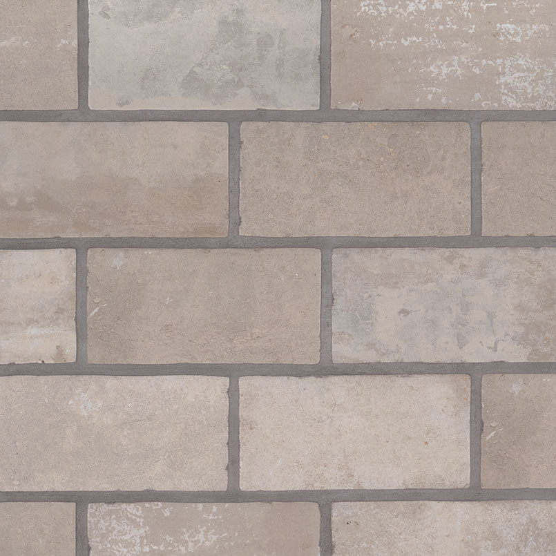 Brickstone Brickstone Ivory 5x10 Porcelain Tile