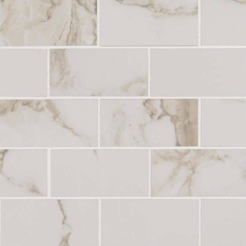 Pietra Calacatta 2x4 Porcelain Tile