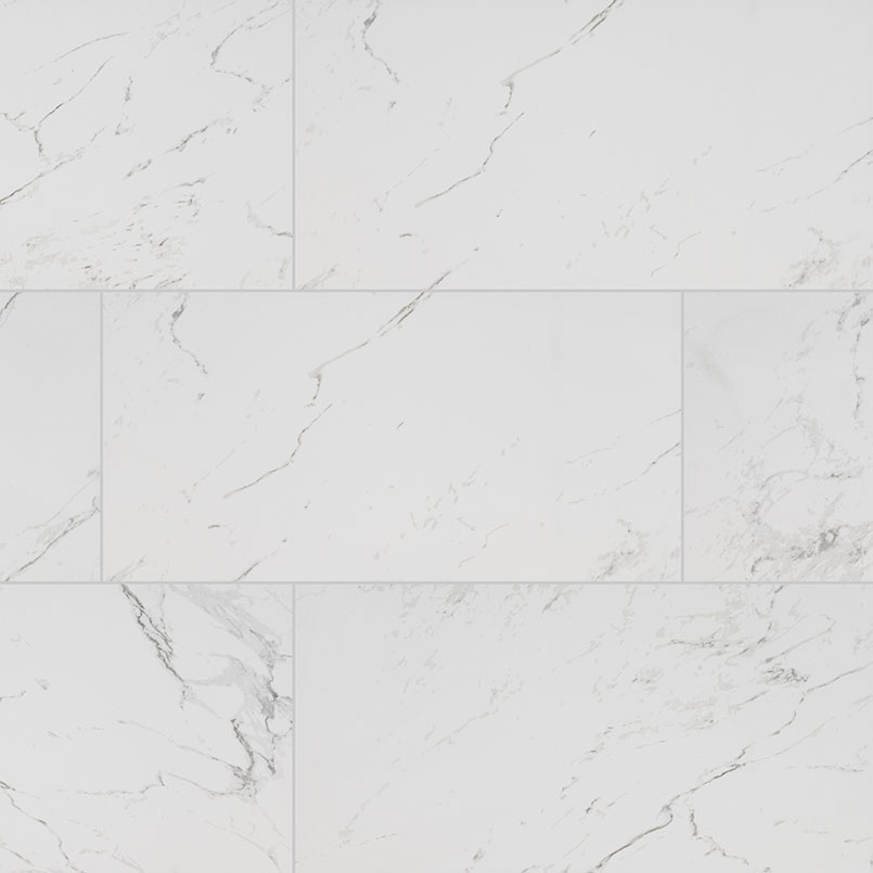 Pietra Carrara Porcelain Tile Detail Room Scene