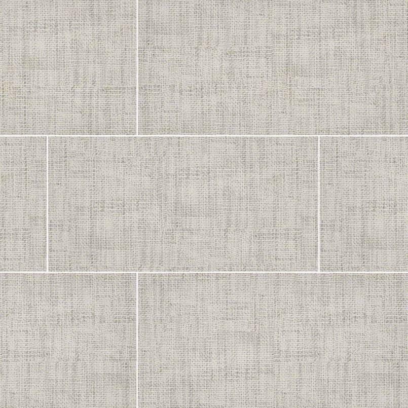 TekTile CrossHatch Ivory Porcelain Tile