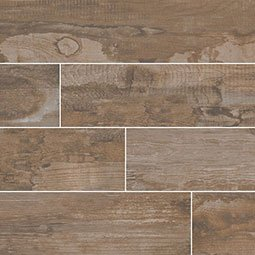 Salvage Brown Wood Look Porcelain Tile