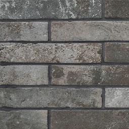 Porcelain Tile Capella Charcoal Brick 2x10 Brickstone