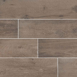 Cottage Brown Wood Look Porcelain Tile