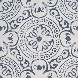 Indigo encaustic tile pattern Product Page