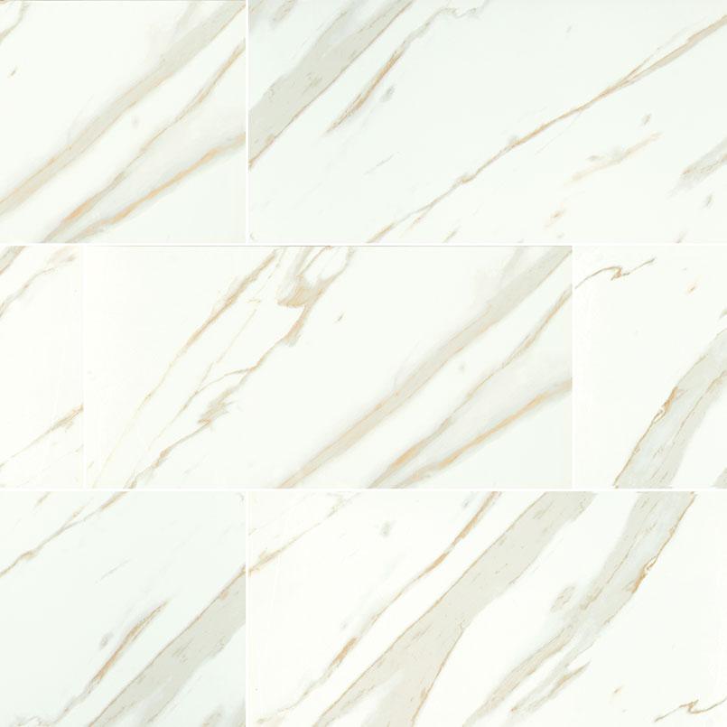 Calacatta White Porcelain Tile Flooring