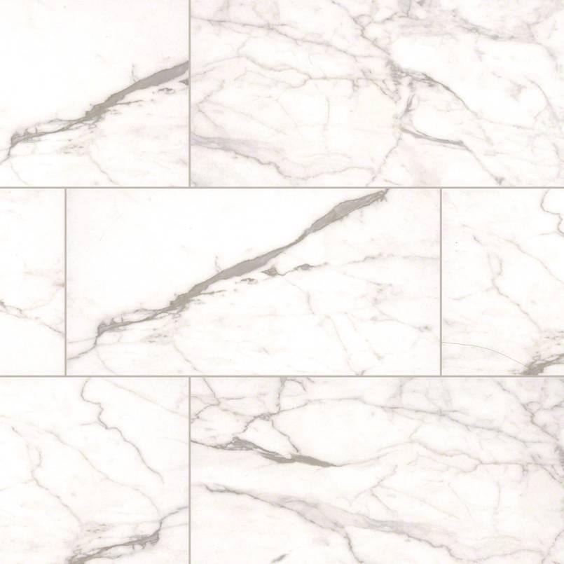 White Vena Essentials Ceramic Tile
