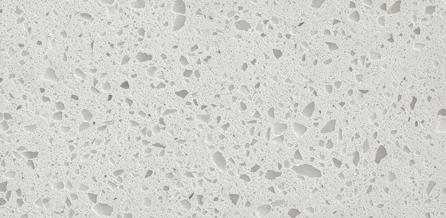 Iced White Quartz White Marble Countertop Closeup