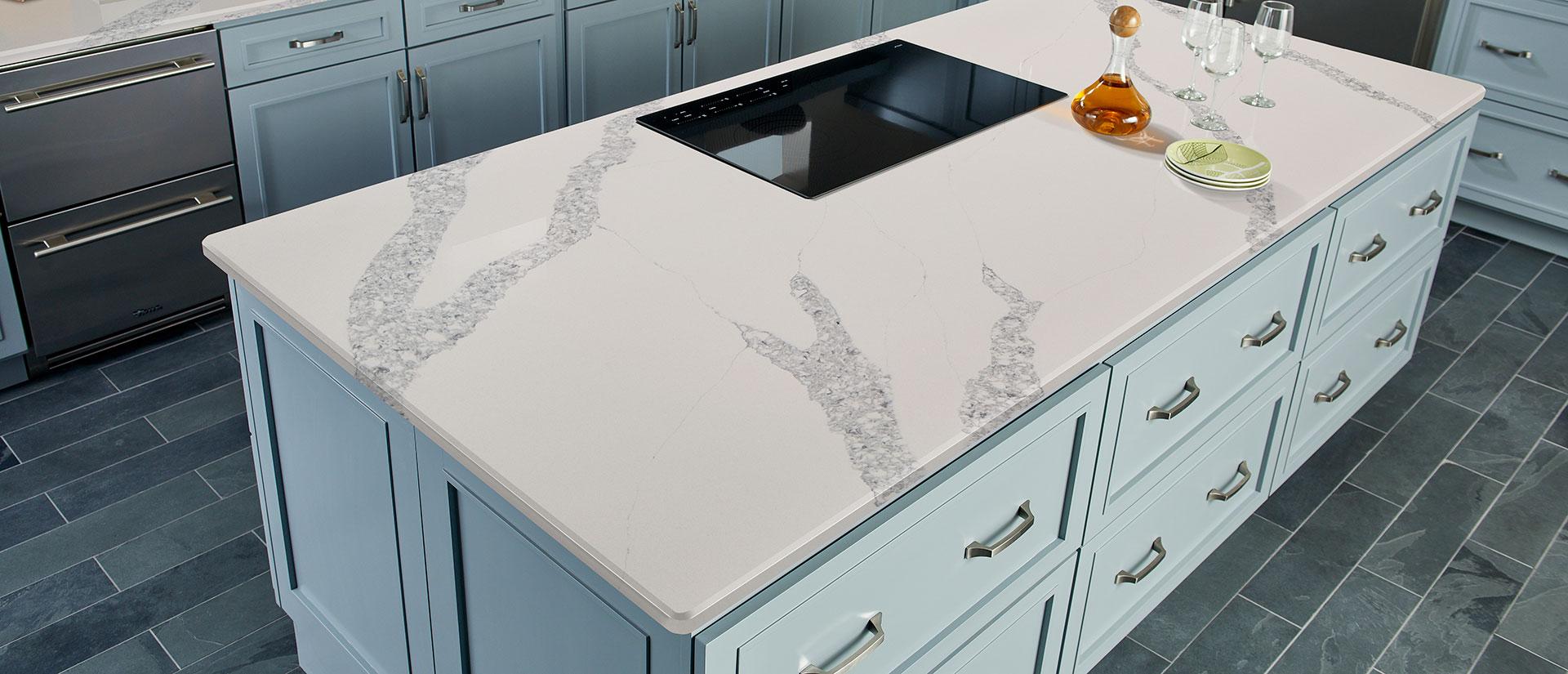 Calacatta Venice White Quartz Countertops Q Premium