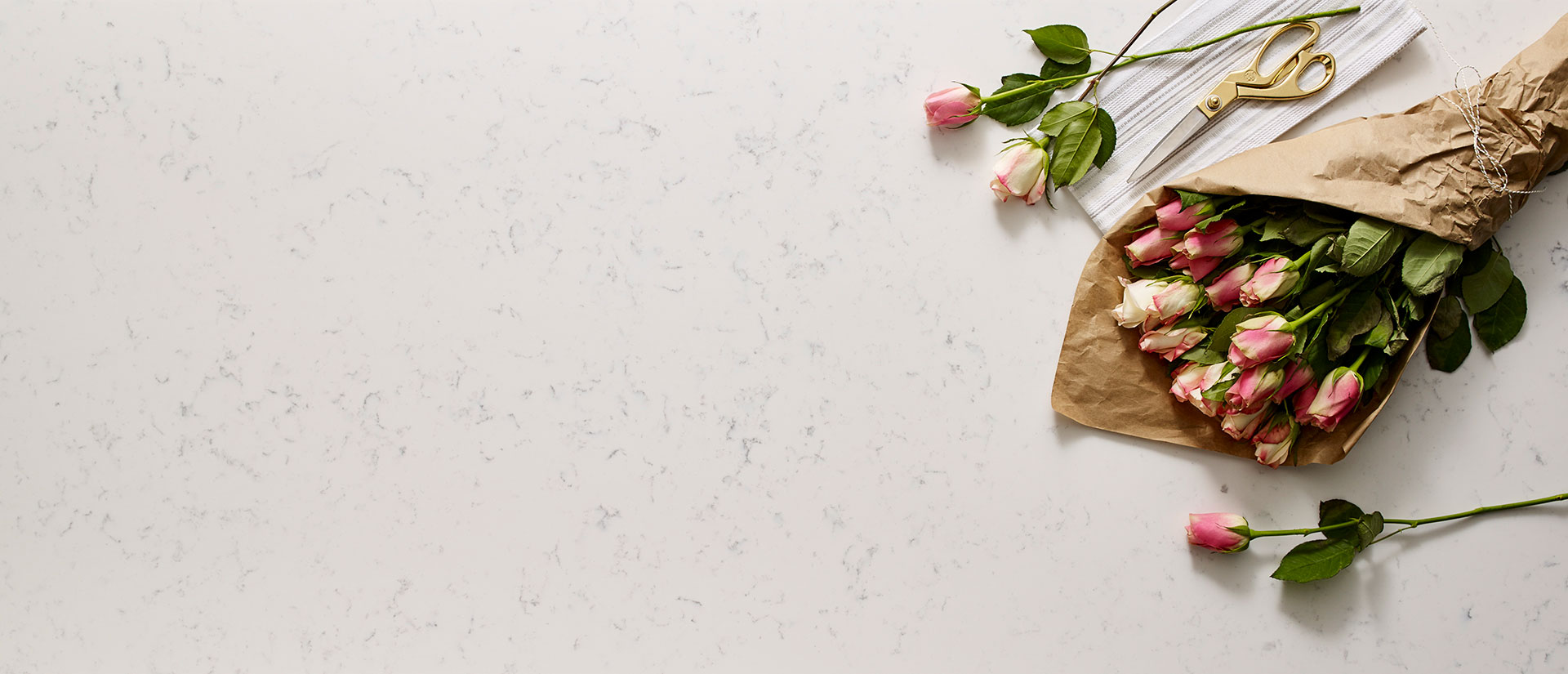 Cashmere Carrara Quartz Vignette