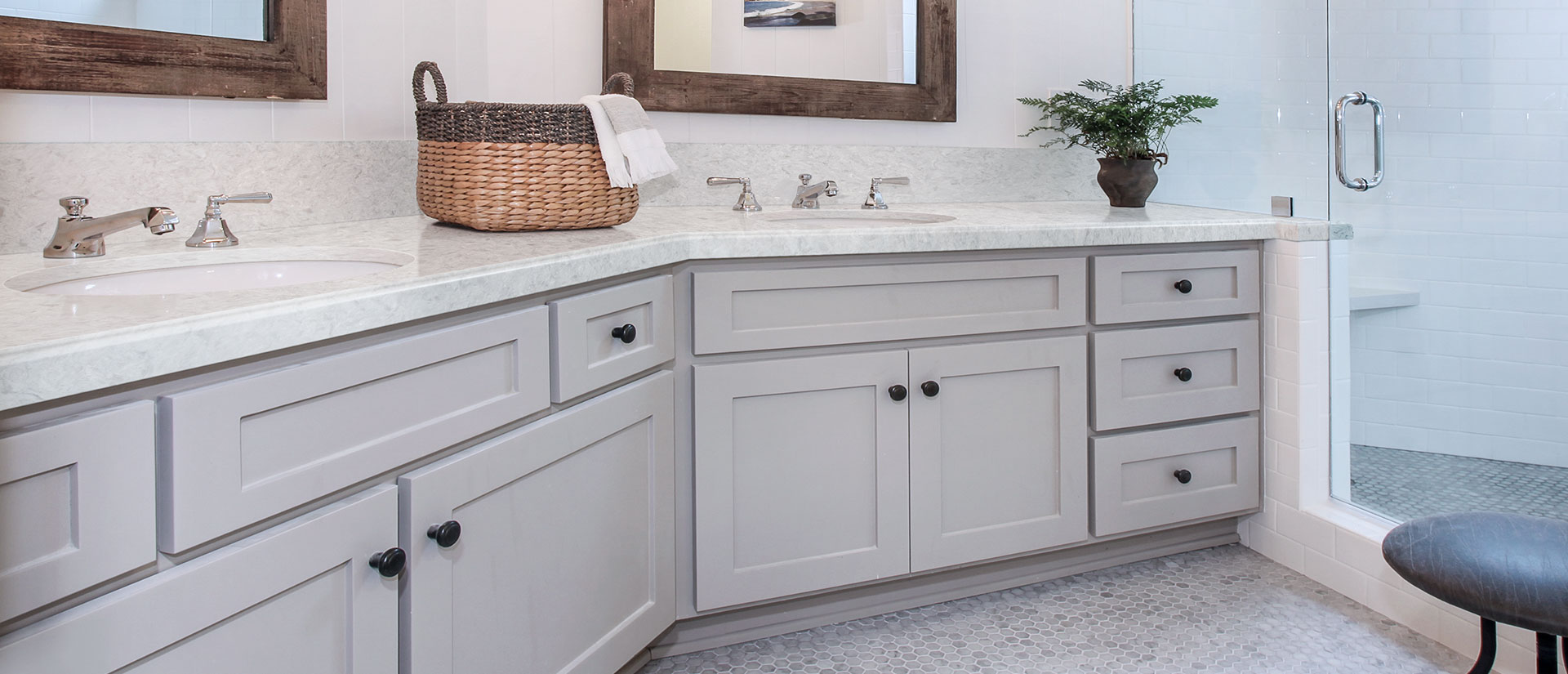 Rolling Fog Grey Quartz Countertops