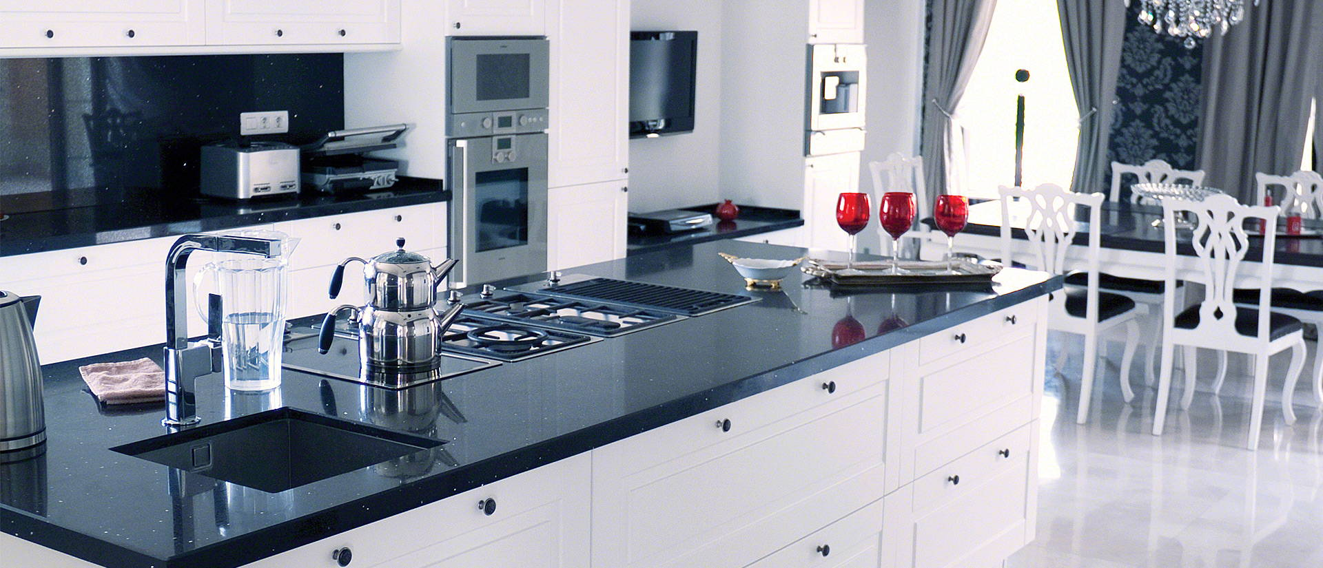 Black Quartz Sparkling Countertops Msi