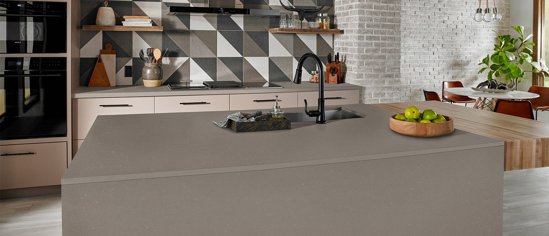Stellar Grey Quartz Countertops
