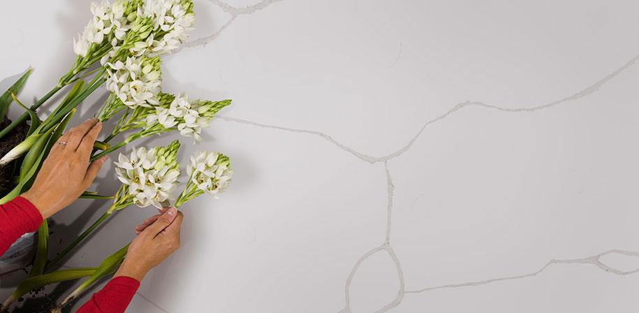 Calacatta Classique White Quartz Countertops