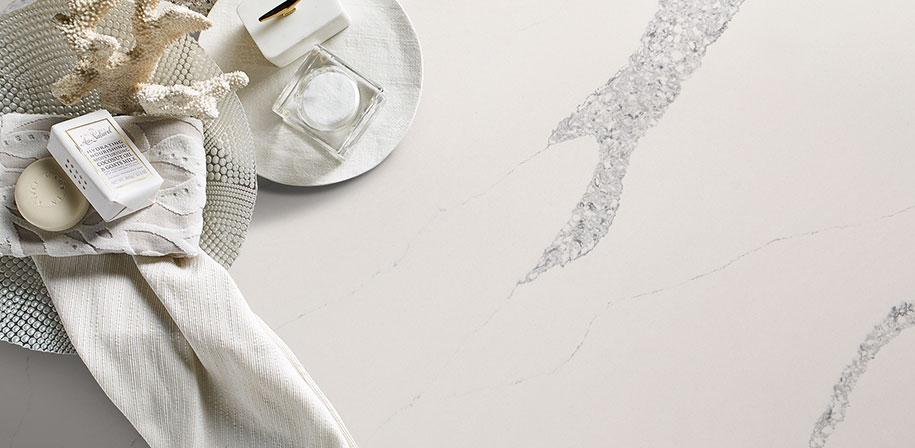 Calacatta Venice - Quartz White Marble Countertop Looks Vignette
