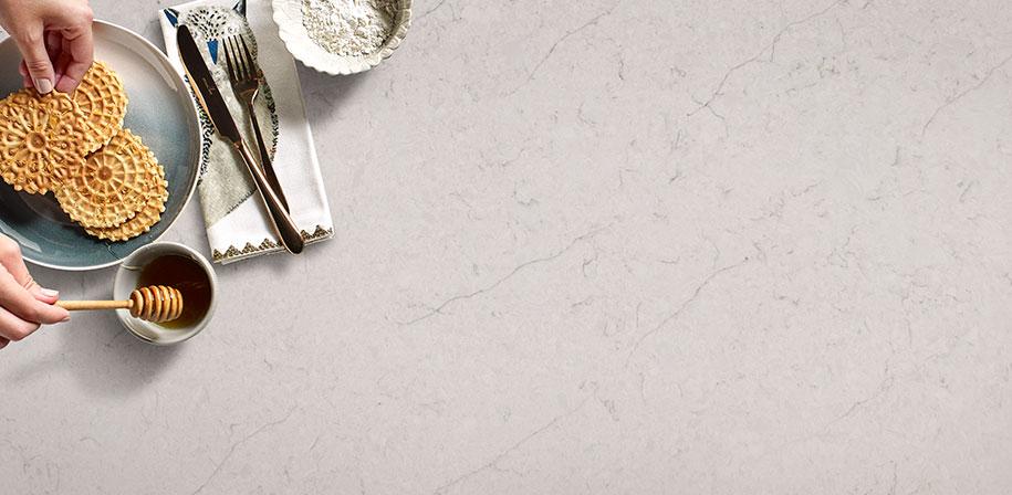 Carrara Caldia White Quartz Closeup