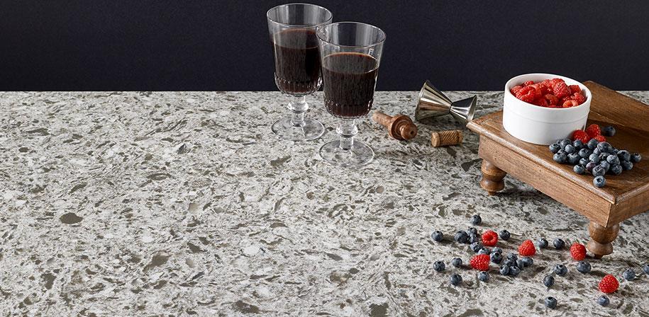 Cascade White Quartz Vignette Countertop