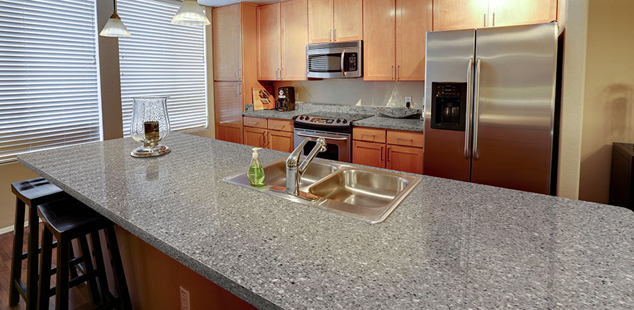 Pearl Gray Quartz Countertops