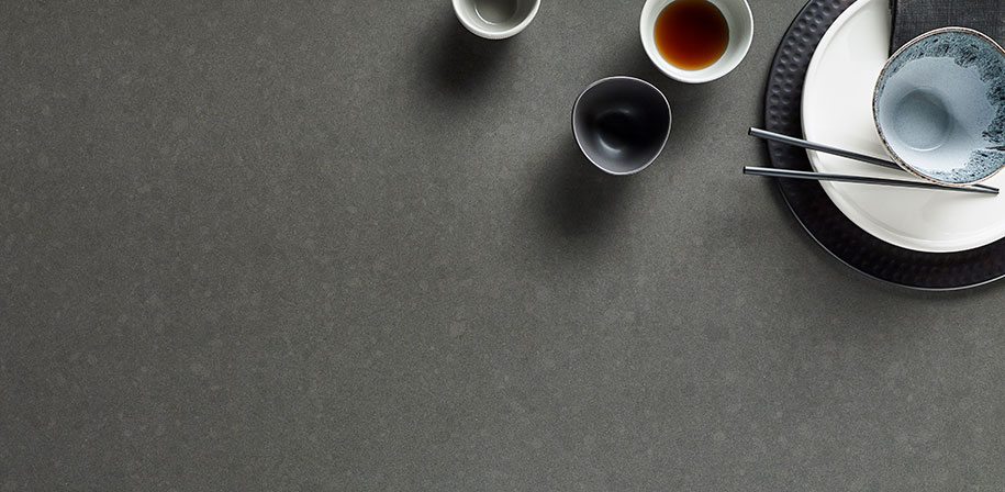Shadow Gray Quartz Countertops Vignette