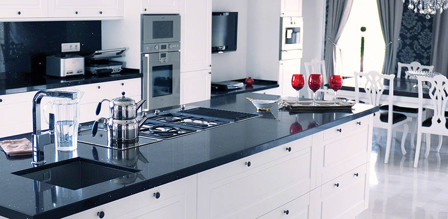 Black Quartz Sparkling Black Quartz Countertops Msi