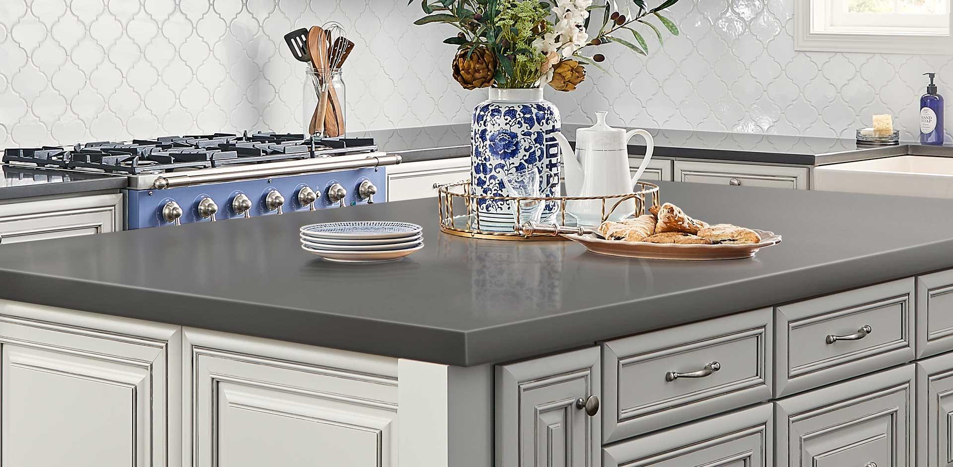 gray quartz countertops light gray countertops mystic gray quartz