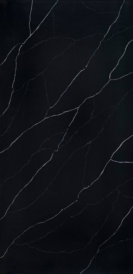 Marquina Midnight Quartz Slab