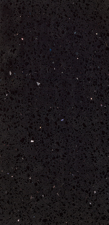 Sparkling Black Quartz Closeup