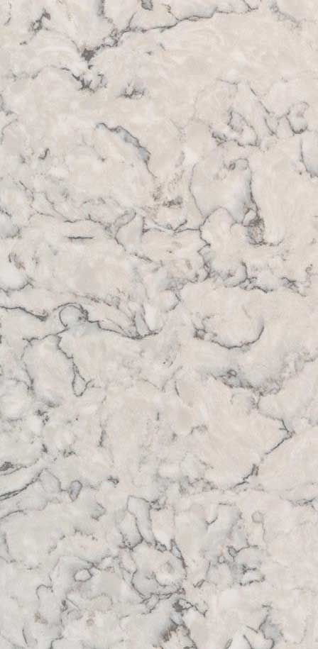BLANCA ARABESCATO<sup>&#8482</sup> - Quartz White Marble Looks CloseUp