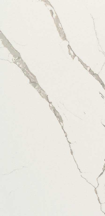 CALACATTA LAZA<sup>&#8482</sup> - Quartz White Marble Looks CloseUp