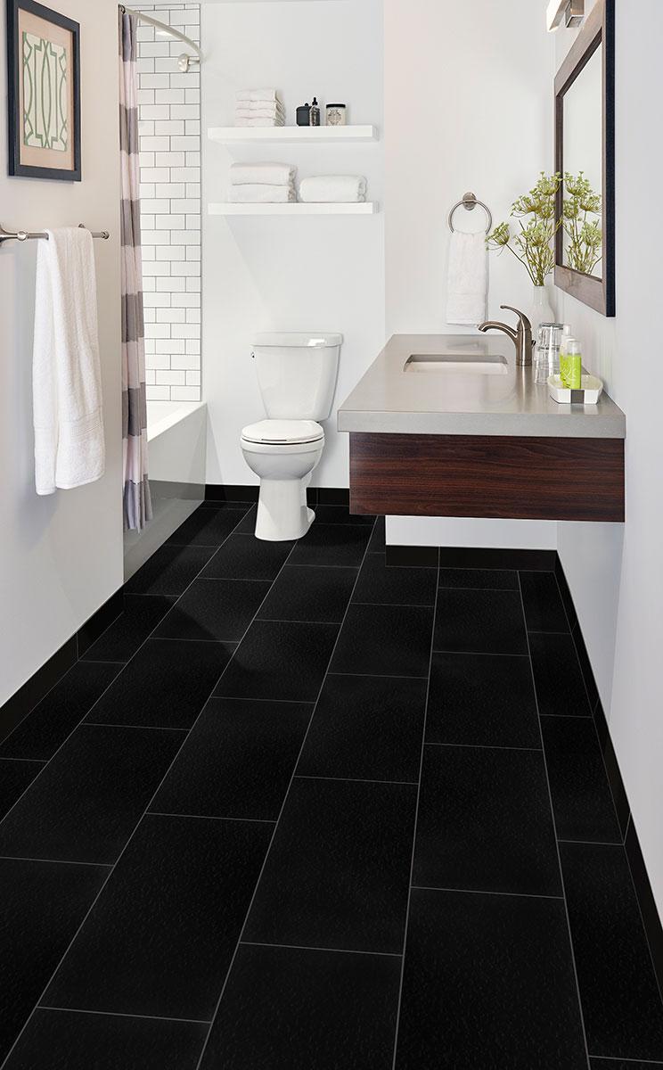 Black Porcelain Tile Domino Collection Msi