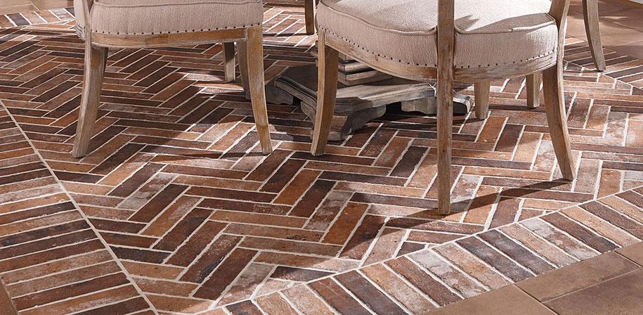 Capella Clay Porcelain Brickstone Red Flooring1