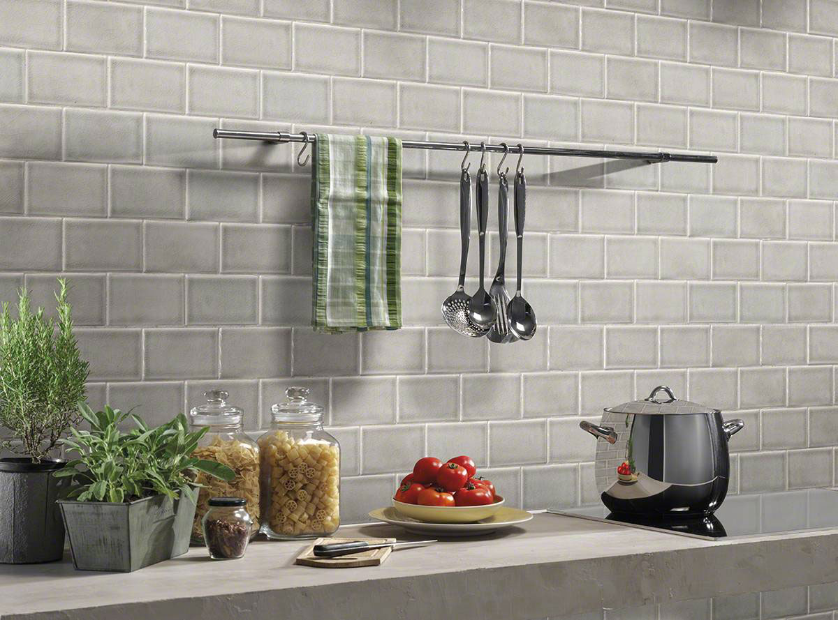 Dove Gray Subway Tile 3x6 Gray Backsplash Tile Gray