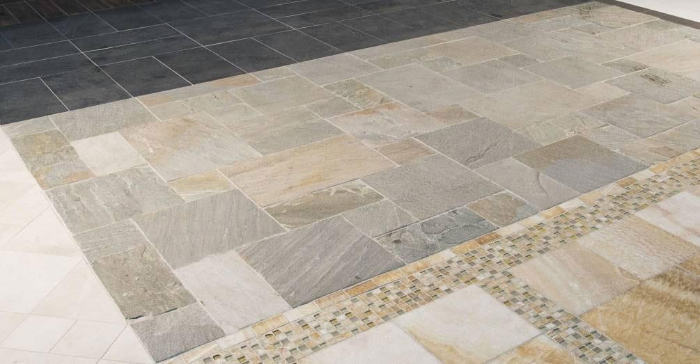 Golden White Quartzite Flooring Tile