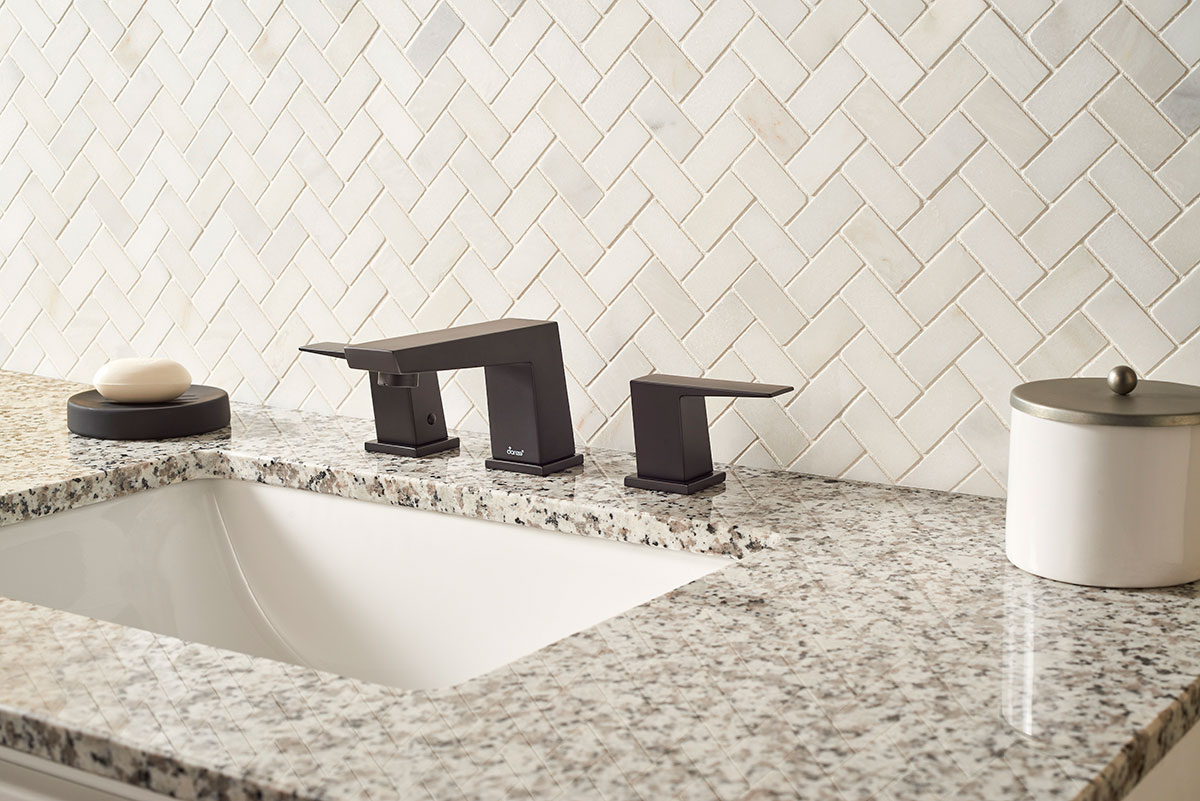 - Greecian White Herringbone Pattern Marble Backsplash Tile