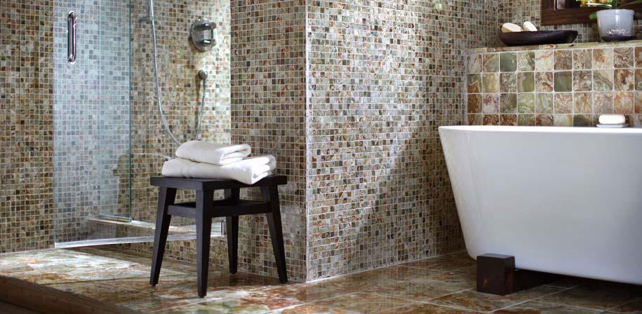 Green Onyx 12x12 Polished Tile Room Scene
