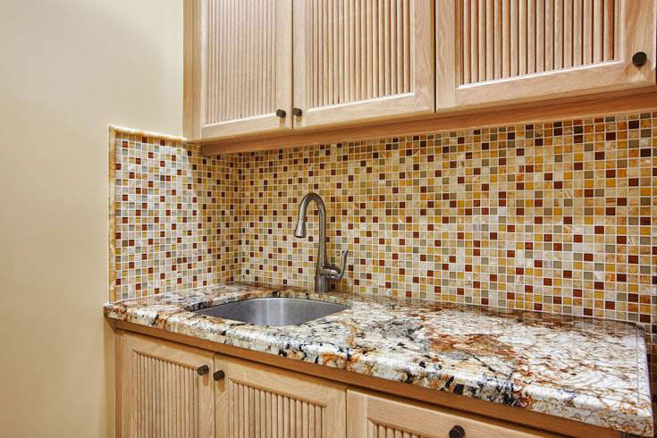 honey caramel glass stone blend mixed 1x1x8mm mosaics rh msisurfaces com White Onyx Tile Backsplash White Glass Subway Tile Backsplash