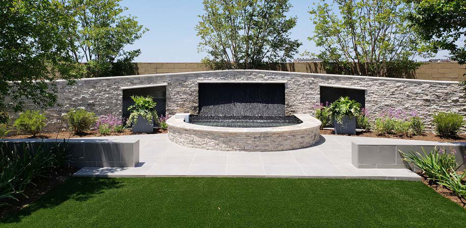 Praia Grey Arterra Pavers Room scene