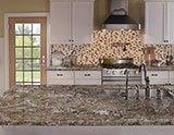 Amarone Granite_Emperador Blend Arched Brick Pattern A