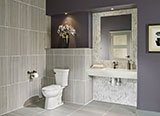 Anthracite Sophie Porcelain_Cararra White 1x2 3d Polished A