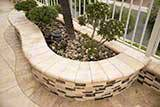 Asteria Blend Interlocking 3d Polished Pattern_Paredon Crema Pavers_Tuscany Chocolade Pavers_Mixed Polished Beach Pebbles
