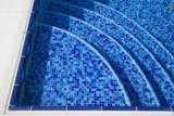 Blue Blend Glass 1x1x8mm B