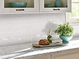 Domino White Glossy Subway Tile 2x4 A