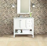 Emperador Blend Bamboo Pattern_Tuscany Ivory Travertine A