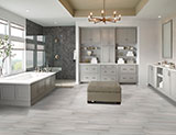 Grigio Watercolor Porcelain_Serenity Stone Pebble Polished A