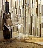 Honey Caramel Onyx Glass Stone Blend Interlocking Pattern 8mm B